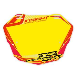 Plaque INSIGHT vision 2 mini fond jaune