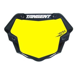 Placa Número TANGENT ventril 3D pro fondo amarillo