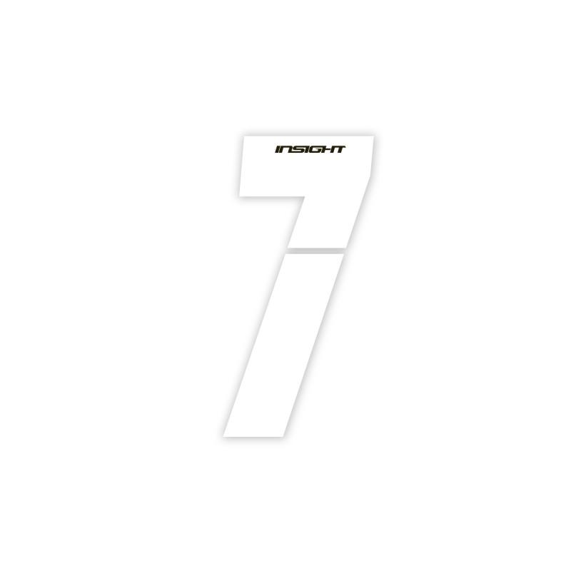 Numéros INSIGHT plaque de cadre 7.5cm blanc