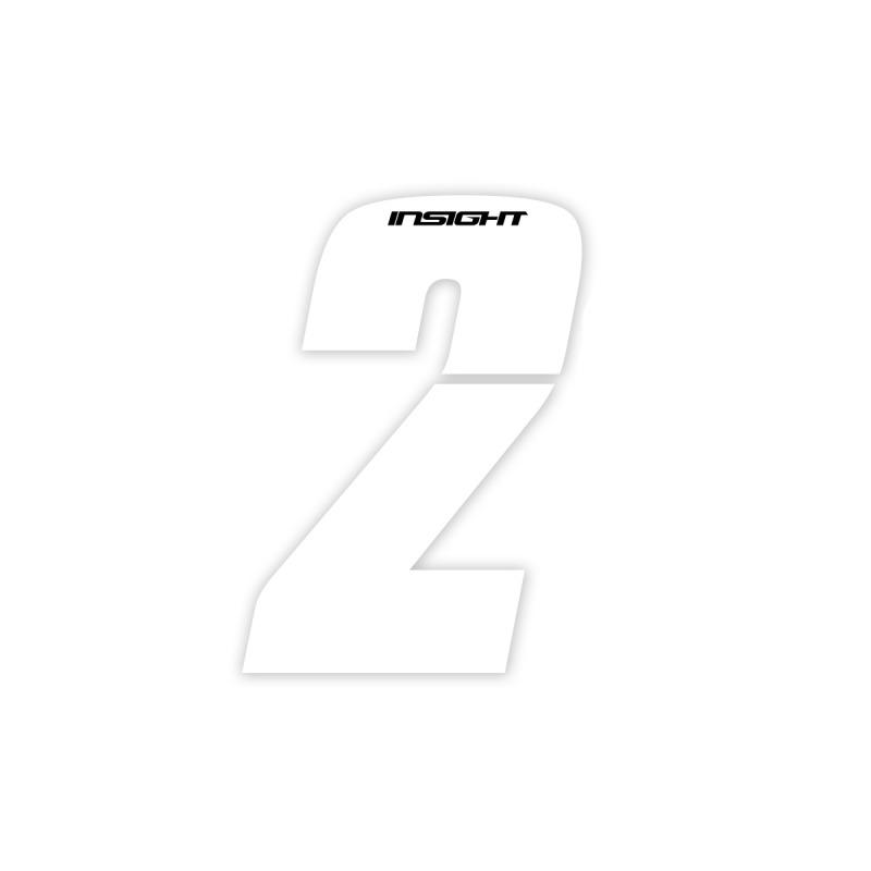 Numéros INSIGHT 7.5cm blanc