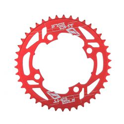 "Couronne INSIGHT alu 4 vis dia 104mm 34 dents 3/32"" et 1/8"" red"