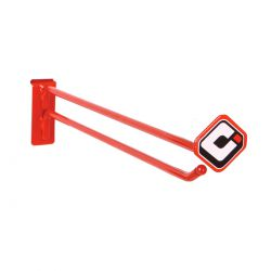 "Pop items ODI 12"" scan peg hook red"
