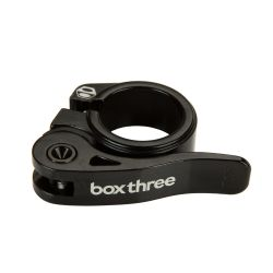 Collier de selle BOX three rapide alu dia 25.4mm black/black