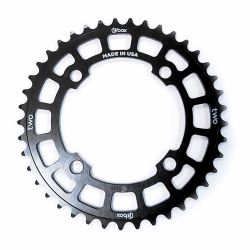 "Couronne BOX two 6061 alu 4 vis dia 104mm 39 dents 3/32"" black"