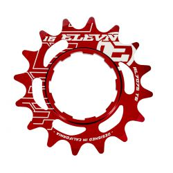 Cassette aluminum ELEVN 14 dents red (shimano)