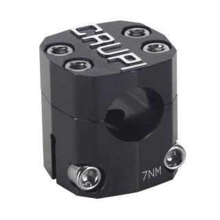 """Potence CRUPI I-beam alu mini 1"""" longueur 0mm black"""