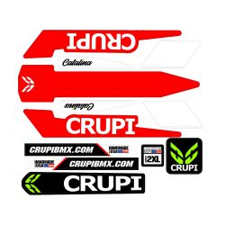 CRUPI Catalina 2019 frame stickers red