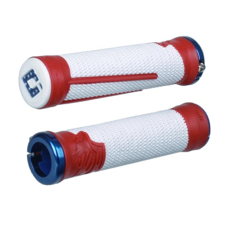 rouge ODI AG-1 Aaron Gwin Signature Lock-on Vélo de montagne//Downhill Vélo Poignées 135 mm