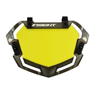 Placa Número INSIGHT 3D vision2 pro fondo amarillo